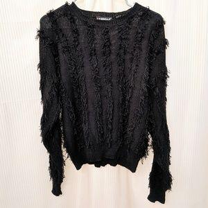 Sweaters - Vintage Fringe Fuzzy Sweater